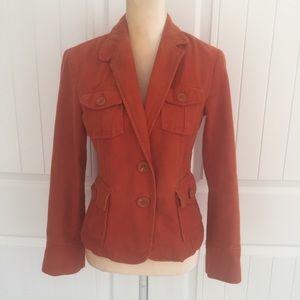 Zara Basic burnt orange jacket blazer size medium